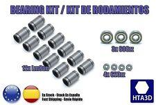Kit de rodamientos 12x lm8uu + 3x 608zz + 4x 623zz Reprap Prusa Mendel P3Steel