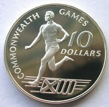 Bahamas 1986 Olympics 10 Dollars Silver Coin,Proof