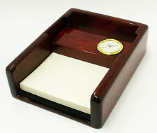 Novelty Miniature Desk Notelet box with Clock