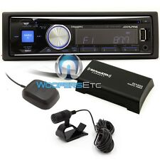 ALPINE CDE-SXM145BT CD MP3 IPOD EQUALIZER BLUETOOTH USB IPHONE SIRIUS XM RADIO