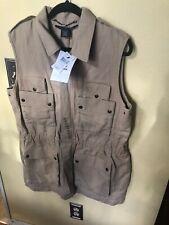 Ralph Lauren Sport Polo Sleeveless Button Up Jacket Vest Size X Large