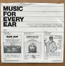 Dennis Wilson River Song EP w/ PS Joan Baez Cheap Trick Burton Cummings 1977