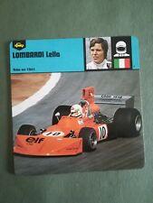 Fiche Pilote Auto Card 12 x 12,5 cm - LOMBARDI LELLA - ITALIE