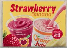 Dairy Queen Poster Backlit Plastic Orange Julius Strawberry Banana 12x17 dq2