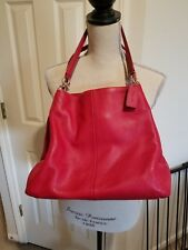 COACH Leather Madison Phoebe Classic Red Shoulder Bag NWOT $395 +Tax