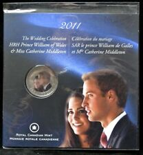 2011 WEDDING CELEBRATION Prince William & Miss Catharine COLOURED 25 CENT COIN