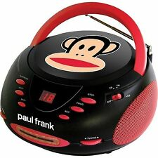 Paul Frank Portable Stereo CD Player Boombox AM/FM Radio AUX-IN iPod MP3 Player