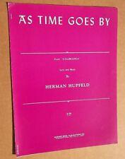 Sheet Music, As Time Goes By, Herman Hupfield Casablanca Warner Bros. '40s (520)