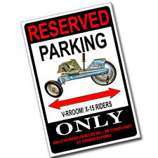Reserved Parking 1960's Mattel V-RROOM X-15 Pedal Only 8x12 Inch Aluminum Sign