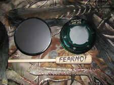 "Aluminum & Glass 2 Sided Call Friction Turkey Pot Call ""NEW"" FearNot Calls"