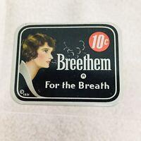 Antique Breethem For the Breath Pocket Advertising Tin 1931 Amazing Shape Woman