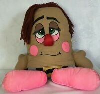 "RARE Vintage 1985 Pillow People Plush 22"" Original Big Footsteps Pink Shoes"