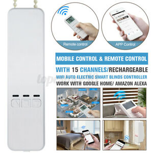WIFI Automatic Electric Smart Home Motorized Window Blinds APP Remote Control ﹏