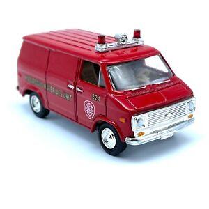 Racing Champions 75 Chevy Van Fire Hazardous Materials Unit Louisville KY 1/64