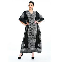 Black White Dress Kaftan Women Size Maxi Cover Plus Womens Summer Long dress