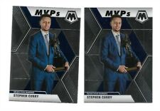 Lot (2) 2019-20 Panini Mosaic Basketball MVP Stephen Curry card #299