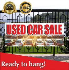 Used Car Sale Banner Vinyl / Mesh Banner Sign Flag Many Sizes Clearance Car