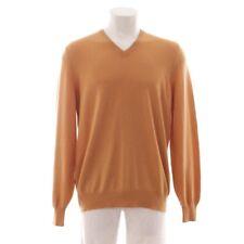 Brunello Cucinelli Cashmere Pullover Size de 54 Camel Mottled Men's Knitwear