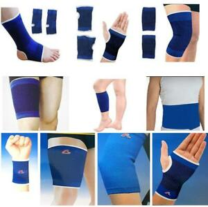 2pc Elastic Support Elbow Knee Wrist Palm Calf Waist Protection Gym Sport Injury