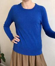 Luxury GORMAN 100% Lambs Wool Jumper Fitted Uk 14 More Like 12 Royal Blue