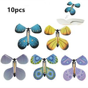 10X Magic Flying Wind Up Butterfly Toy For Christmas Greeting Card Wedding Prank