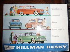 catalogue HILLMAN HUSKY ; english version ; 1961 - ROOTES