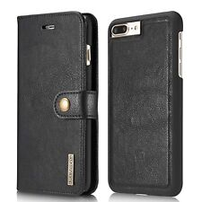 [RFID Protection] [2 Cases In 1] Premium REAL Leather Case For iPhone 8 7 Plus