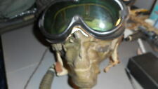 WW2 B-6 FLIGHT HEALMET EXTRA LARGE WITH RECIEVER A-10 OXEGEN MASK RARE GOGGLES