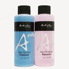 Artistic Nail Design Nail Colour Gloss Surface CLEANSER + REMOVER 4oz 118 mL Set