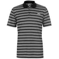 Mens Slazenger Lightweight Short Sleeves Golf Top Stripe Polo Shirt Size S-XXXXL