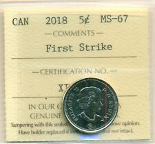 2018 Canada 5 cent First Strike ICCS MS-67