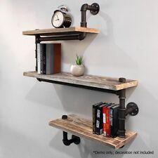 Rustic Industrial DIY Floating Pipe Shelf Snake Design Décor Wall Office Bedroom