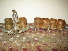 2 Vintage Gold Filigree Cherub LIPSTICK HOLDERS Ornate Beautiful!