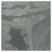 Damask Grey Jacquard Tablecloths Rectangle Oblong Table Cloth Tableware Dining
