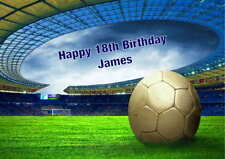Personalised Football / Soccer Birthday Card Any Name, Age / Relationship