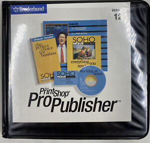 Broderbund Print Shop Pro publisher Version 12 Discs 1-5 Program CD &Install CD