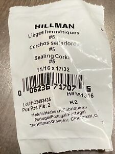 """NEW Corks Hillman Bag of 2 Hard to Find Sealing Stoppers 15/16X47/64 Lot of 2 1"""""""