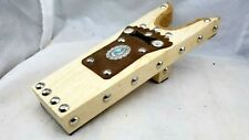Bootjack Wood,Brown Leather, Turquoise,Silver Conchos+Nailheads Cowboy Boot Jack