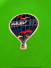 Malev Hungarian Airlines Sticker Vintage