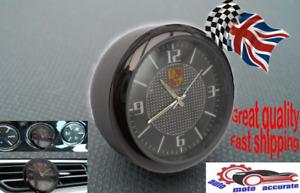 Logo Porsche Quartz Clock Watch Motorcycle Car Luminous Dashboard Interior Vent