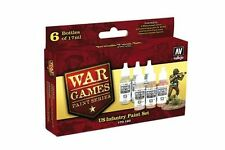 VALLEJO 70.160 War games Infanterie US kit – US infantry paint set 6x17ml