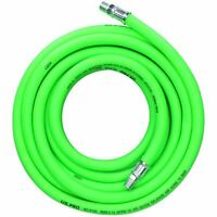"15m Air Hose 1/4"" BSP Male Threads Soft Rubber High Visibility Compressor Line"