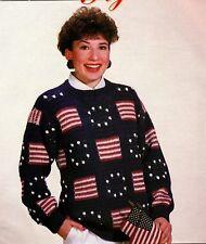 STUNNING Unisex Stars & Stripes Sweater/Crochet Pattern INSTRUCTIONS ONLY