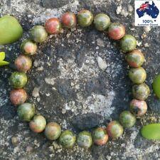 UNAKITE Chakra Bracelet CRYSTAL HEALING Energy 100% Natural Gemstones Worry Bead