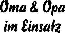 Autoaufkleber Cooler Spruch-Oma & Opa im Einsatz - 2 wählbare Größen . Art.619