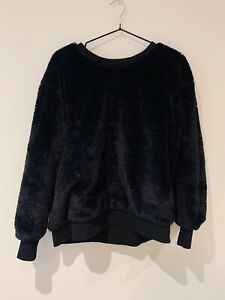Story Of Lola Faux Fur Sweatshirt - S/M