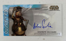 Star Wars Attack Of The Clones Topps Widevision Auto Card WATTO Andrew Secombe