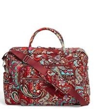 Vera Bradley Iconic Weekender Travel Bag  Duffel Regal Paisley  NWT