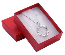 Valentine's Day MOM Word Heart Circle of Love Necklace Gift For Mom n2072c