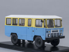 Scale model 1/43 Army bus App-66, yellow-blue